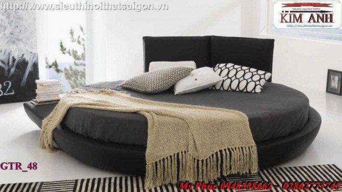 Giường tròn, giường HongKong màu tím ms 70 giá rẻ tại tphcm - nội thất Kim Anh sài gòn31