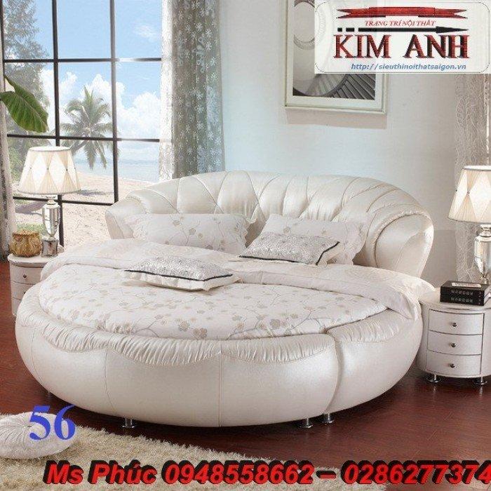 Giường tròn, giường HongKong màu tím ms 70 giá rẻ tại tphcm - nội thất Kim Anh sài gòn16