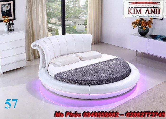 Giường tròn, giường HongKong màu tím ms 70 giá rẻ tại tphcm - nội thất Kim Anh sài gòn25
