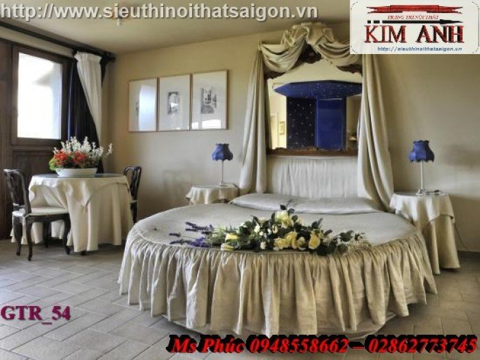 Giường tròn, giường HongKong màu tím ms 70 giá rẻ tại tphcm - nội thất Kim Anh sài gòn29