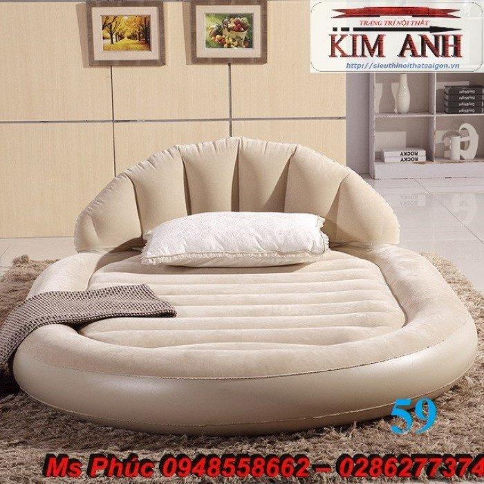 Giường tròn, giường HongKong màu tím ms 70 giá rẻ tại tphcm - nội thất Kim Anh sài gòn14