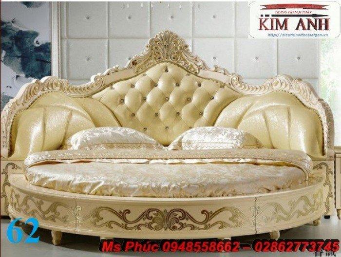 Giường tròn, giường HongKong màu tím ms 70 giá rẻ tại tphcm - nội thất Kim Anh sài gòn19