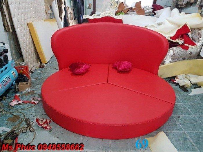Giường tròn, giường HongKong màu tím ms 70 giá rẻ tại tphcm - nội thất Kim Anh sài gòn20