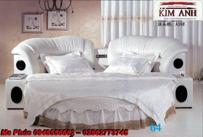 Giường tròn, giường HongKong màu tím ms 70 giá rẻ tại tphcm - nội thất Kim Anh sài gòn26