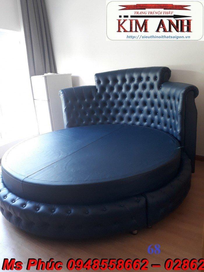 Giường tròn, giường HongKong màu tím ms 70 giá rẻ tại tphcm - nội thất Kim Anh sài gòn10