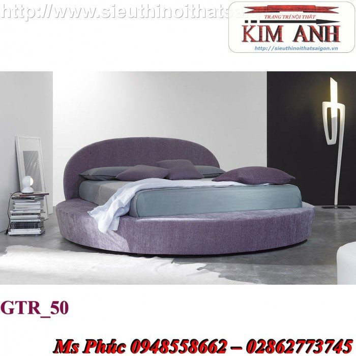 Giường tròn, giường HongKong màu tím ms 70 giá rẻ tại tphcm - nội thất Kim Anh sài gòn15
