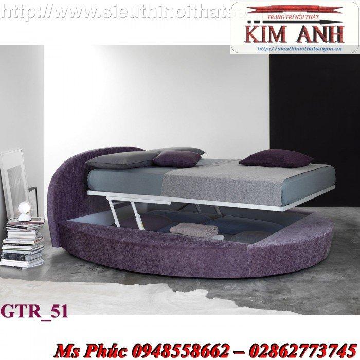 Giường tròn, giường HongKong màu tím ms 70 giá rẻ tại tphcm - nội thất Kim Anh sài gòn9