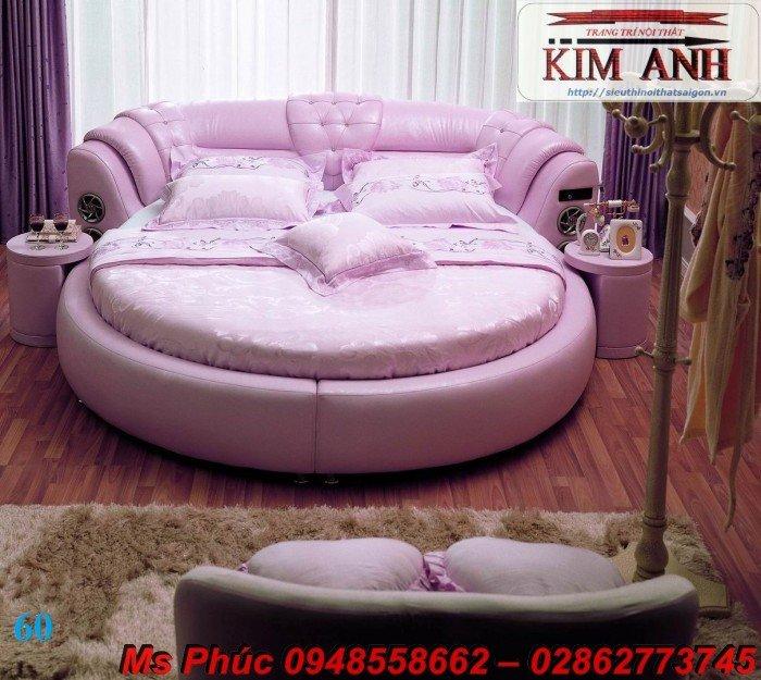 Giường tròn, giường HongKong màu tím ms 70 giá rẻ tại tphcm - nội thất Kim Anh sài gòn13