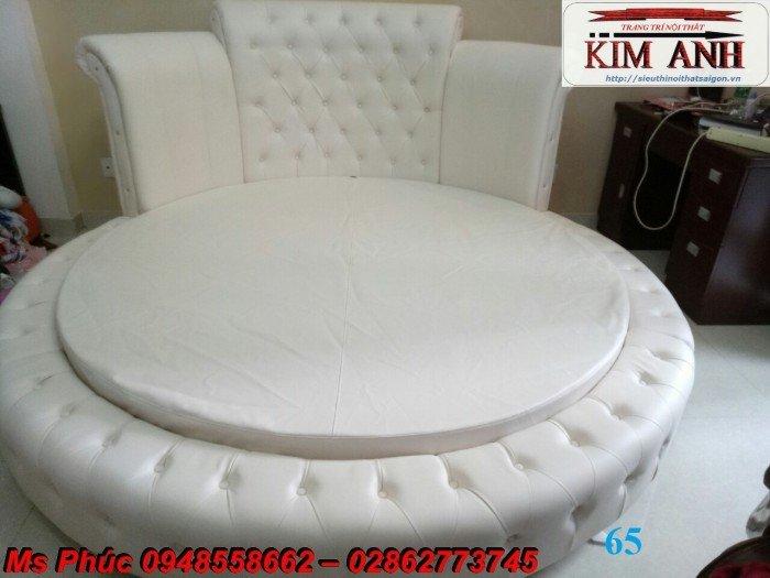 Giường tròn, giường HongKong màu tím ms 70 giá rẻ tại tphcm - nội thất Kim Anh sài gòn18
