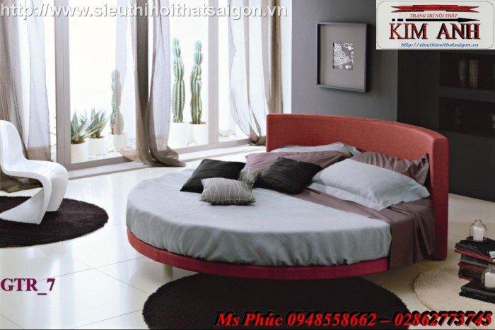 Giường tròn, giường HongKong màu tím ms 70 giá rẻ tại tphcm - nội thất Kim Anh sài gòn3