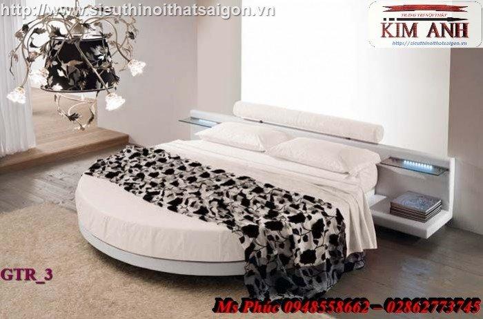 Giường tròn, giường HongKong màu tím ms 70 giá rẻ tại tphcm - nội thất Kim Anh sài gòn6