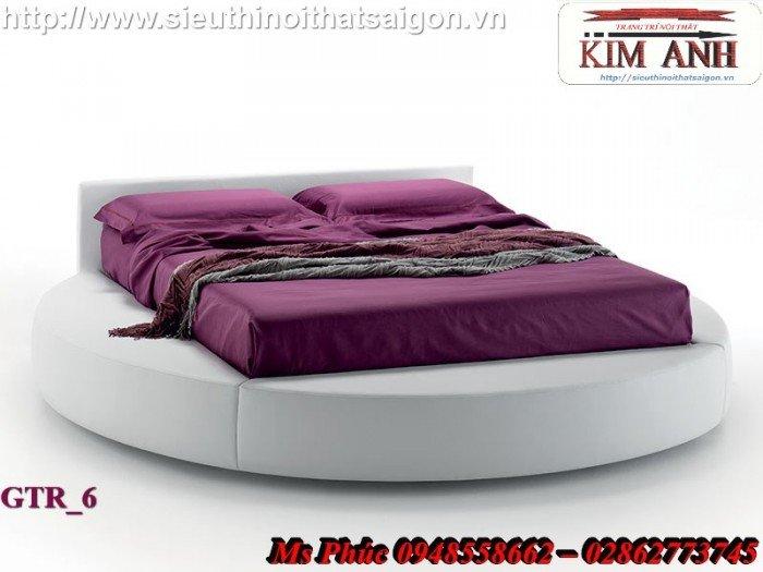 Giường tròn, giường HongKong màu tím ms 70 giá rẻ tại tphcm - nội thất Kim Anh sài gòn2