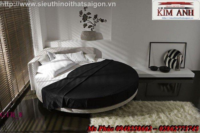 Giường tròn, giường HongKong màu tím ms 70 giá rẻ tại tphcm - nội thất Kim Anh sài gòn4