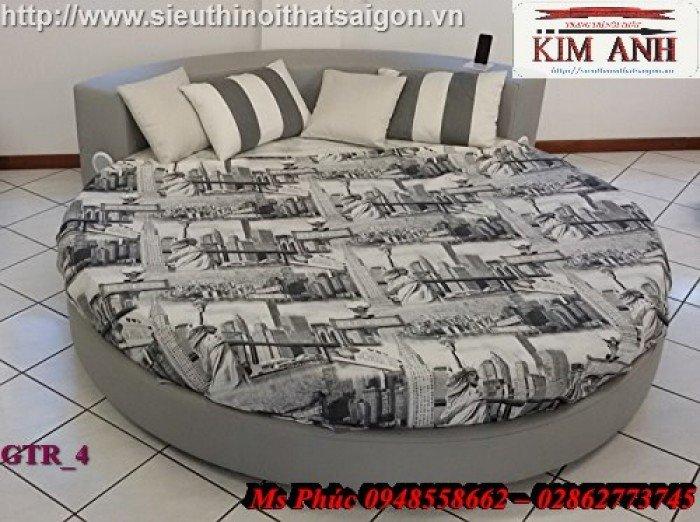 Giường tròn, giường HongKong màu tím ms 70 giá rẻ tại tphcm - nội thất Kim Anh sài gòn5