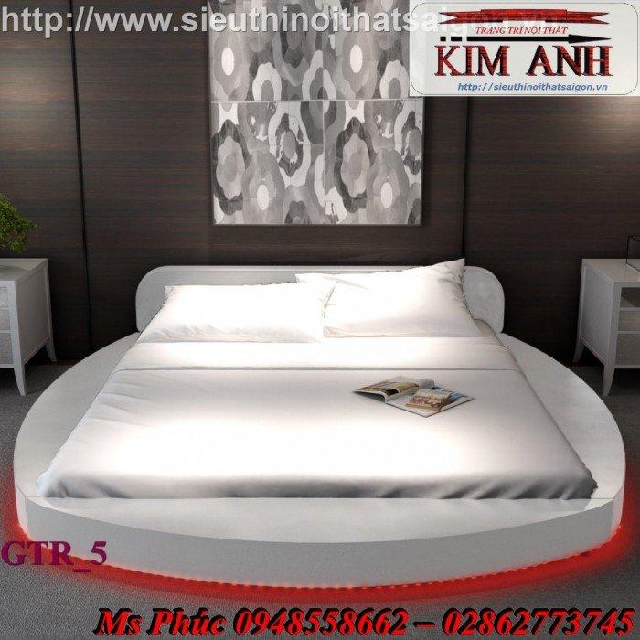 Giường tròn, giường HongKong màu tím ms 70 giá rẻ tại tphcm - nội thất Kim Anh sài gòn1