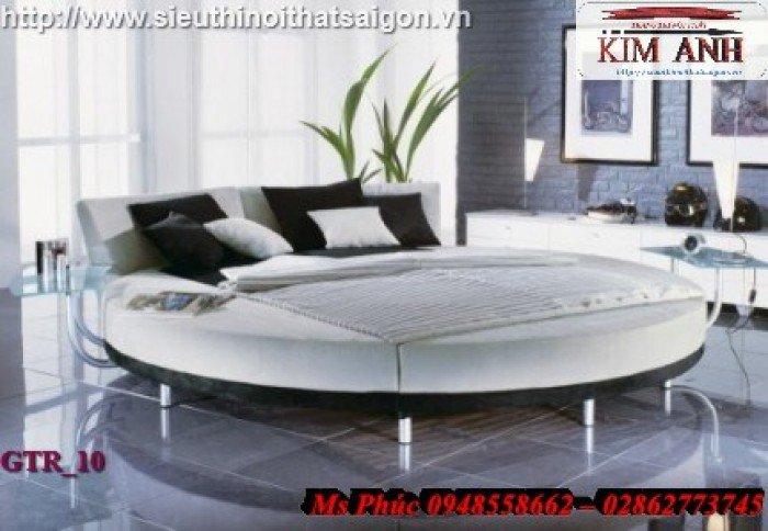 Giường tròn, giường HongKong màu tím ms 70 giá rẻ tại tphcm - nội thất Kim Anh sài gòn7