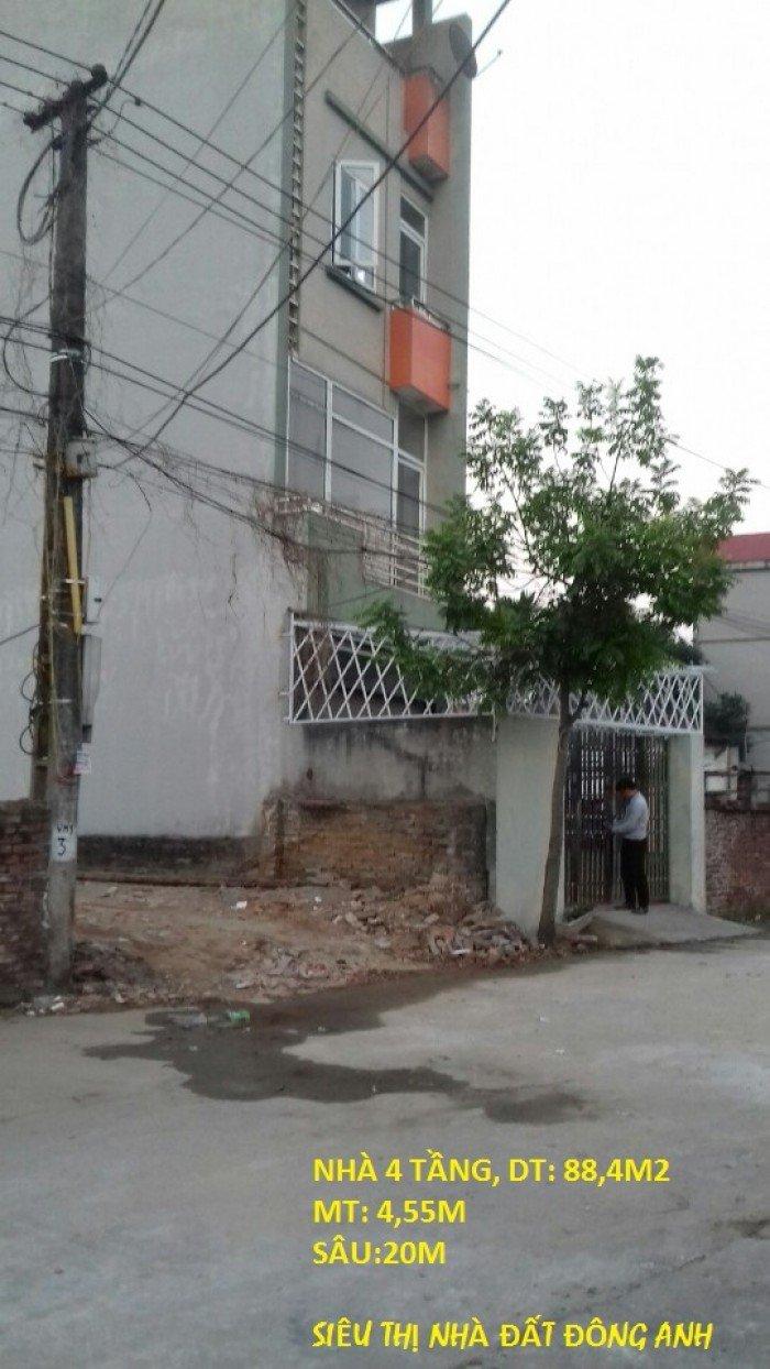 Bán Nhà 4 Tầng, Dt 88,4m2, Viên Nội, Đông Anh, Hà Nội