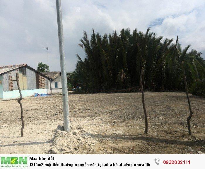 1315m2 mặt tiền đường Nguyễn Văn Tạo, Nhà Bè ,đường nhựa 10m,sổ riêng,view sông, bán nhanh