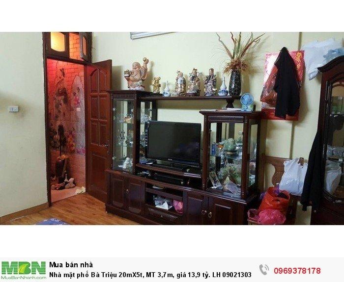 Nhà mặt phố Bà Triệu 20mX5t, MT 3,7m
