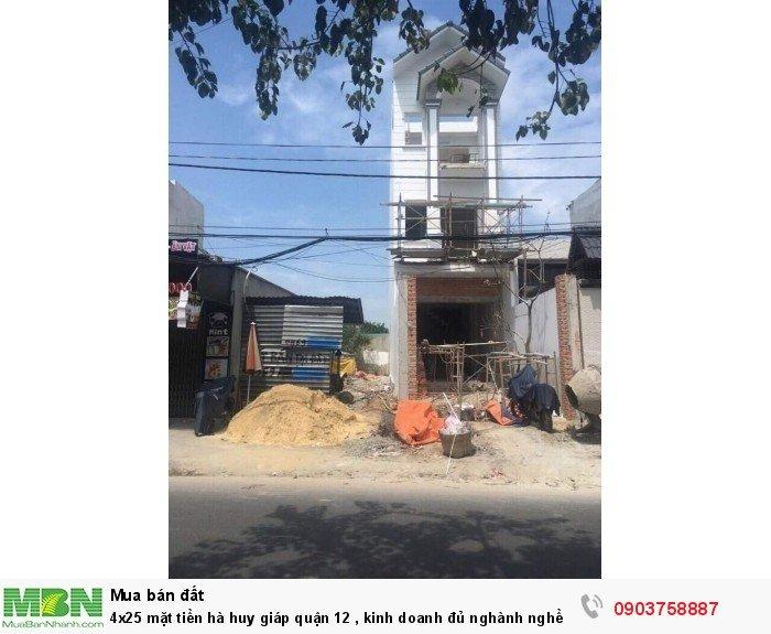 4x25 mặt tiền Hà Huy Giáp, Quận 12 , kinh doanh đủ nghành nghề