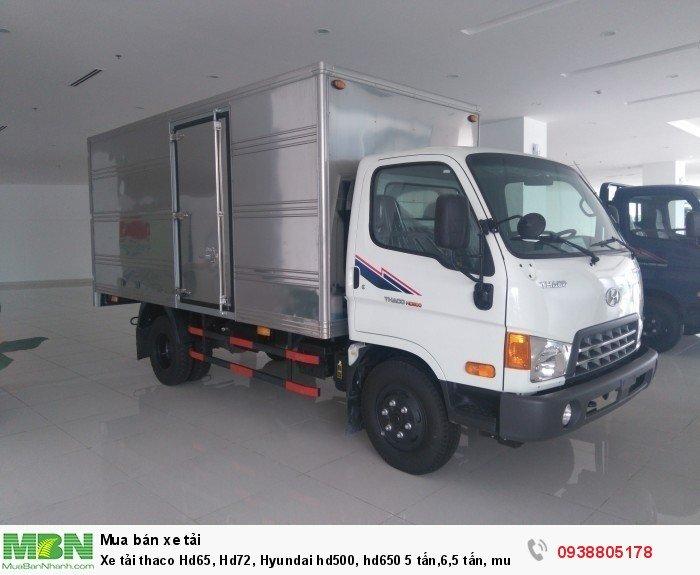 Xe tải thaco Hd65, Hd72, Hyundai hd500, hd650 trả góp Long An, Bình Chánh..., ưu đãi 100% lệ phí trước bạ.