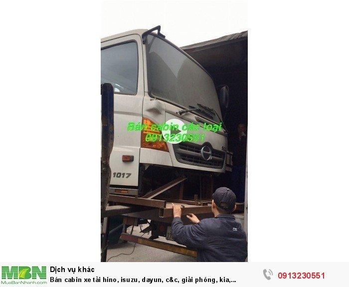 Bán cabin xe tải hino, isuzu, dayun, c&c, giải phóng, kia, huyndai, 8 tấn hoàng huy, trường giang, cuu long