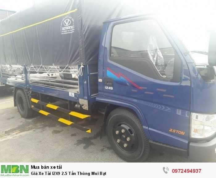 Giá xe tải IZ49 2.5 tấn thùng mui bạt - tặng ngay 1 thùng dầu khi giao xe