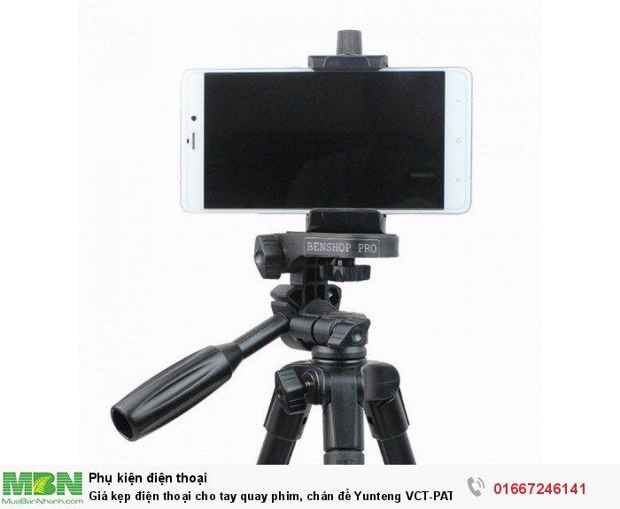 Giá kẹp điện thoại cho tay quay phim, chân đế Yunteng VCT-PAT