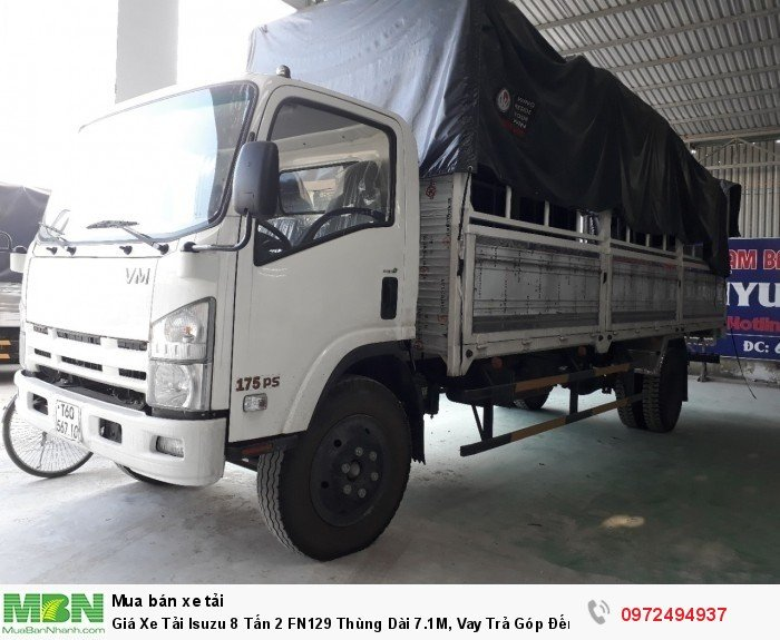 Giá xe tải isuzu 8 tấn 2 FN129 - hỗ trợ mua vay đến 80% , thời gian đến 72 tháng