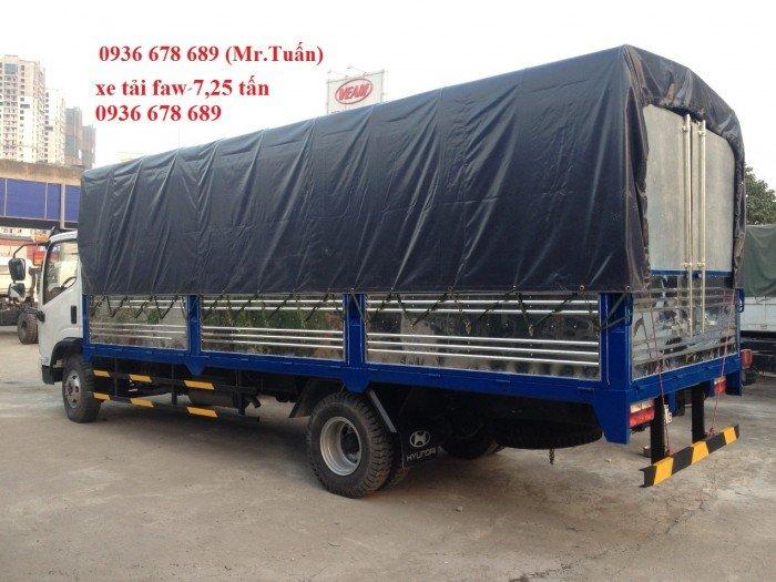 Xe tải faw 7.25 tấn / faw 7,25 tấn thùng 6m3 / máy 140PS cực khỏe