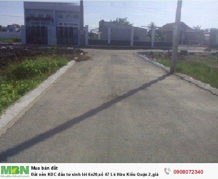 Đất nền KDC đầu tư sinh lời 6x20,số 47 Lê Hữu Kiều Quận 2,giá đẹp nhất khu vực