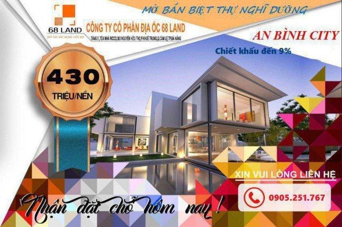 Nhận đặt chỗ đất nền thuộc dự án An Bình City, chỉ từ 430tr/ nền, vị trí đắt địa,CK cực cao