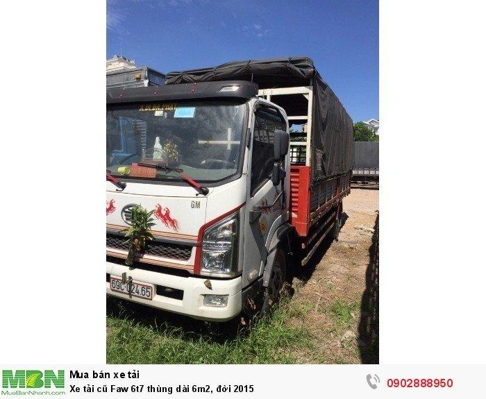 Xe tải cũ Faw 6t7 thùng dài 6m2, đời 2015 2