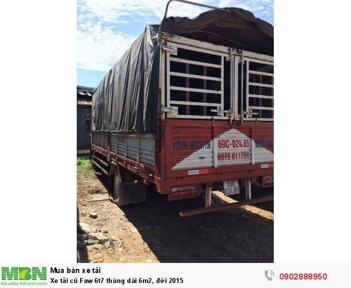 Xe tải cũ Faw 6t7 thùng dài 6m2, đời 2015 3