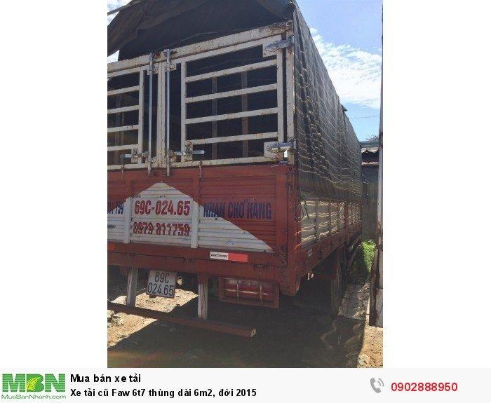 Xe tải cũ Faw 6t7 thùng dài 6m2, đời 2015 4