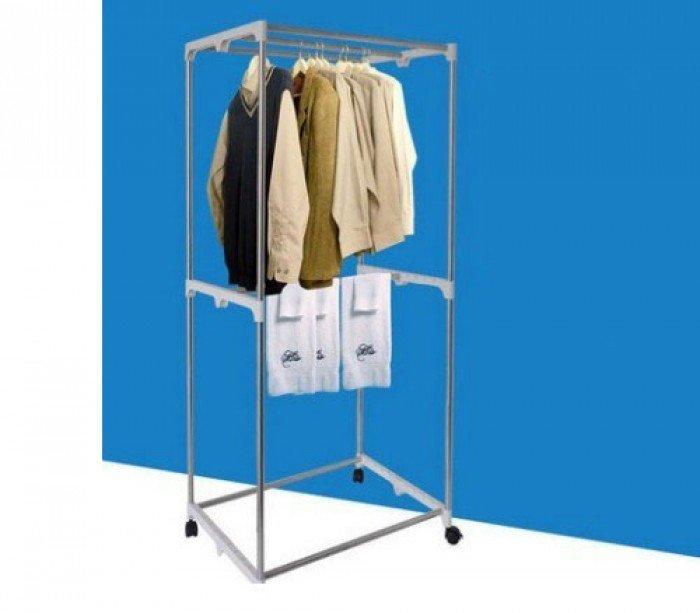 Máy sấy quần áo tủ vuông 2 tầng mẫu mới