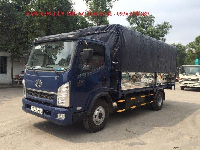 Xe tải faw 6,95 tấn | faw 6.95 tấn thùng dài 5m1 | faw 6t95