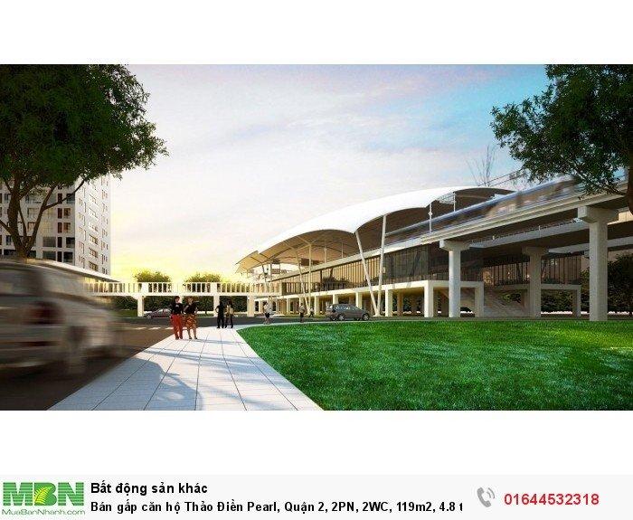 Bán gấp căn hộ Thảo Điền Pearl, Quận 2, 2PN, 2WC, 119m2, full nội thất, view sông.