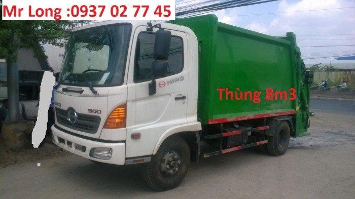 xe Hino chở rác 9 khối , xe Hino FC9JETA chở rác , xe Hino fc chở rác , xe chở rác 6 tấn , xe Hino 6t2 chở rác , xe Hino chở rác thùng 8 khối , Xe ép rác 8 khối 0