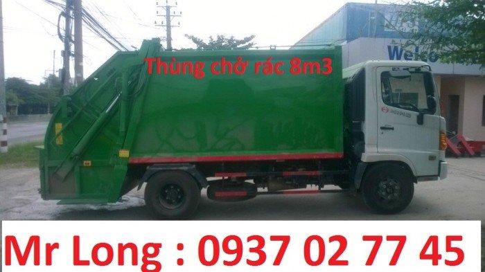 xe Hino chở rác 9 khối , xe Hino FC9JETA chở rác , xe Hino fc chở rác , xe chở rác 6 tấn , xe Hino 6t2 chở rác , xe Hino chở rác thùng 8 khối , Xe ép rác 8 khối 1