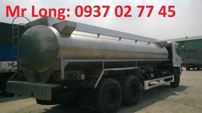 Xe bồn Hino 15 tấn chở dầu thực vật, xe bồn Hino 3 chân chở dầu thực vật , Xe tải chở dầu thực vật , Xe chở dầu cá , Xe bồn INOX chở sữa , xe HINO FL8JT7A bồn inox chở dầu ăn , xe chở dầu ăn 16 khối 3