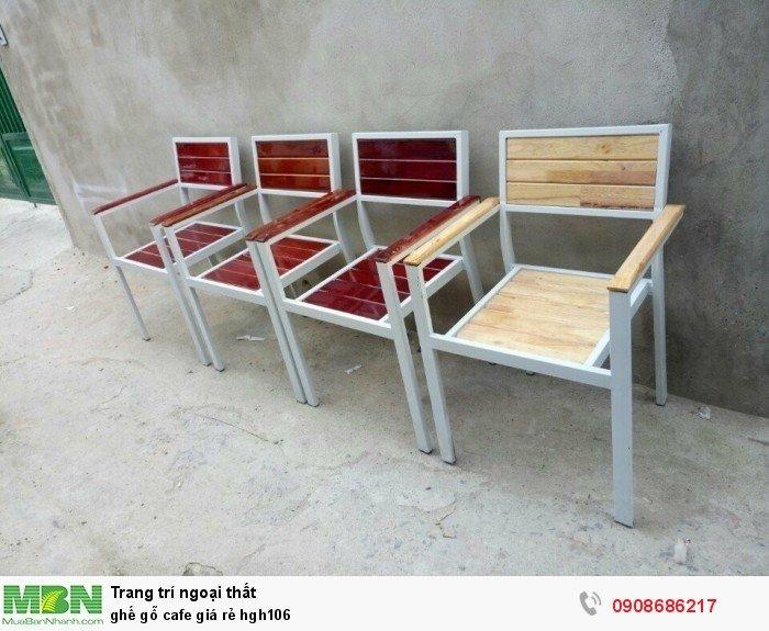 Ghế gỗ cafe giá rẻ hgh1060