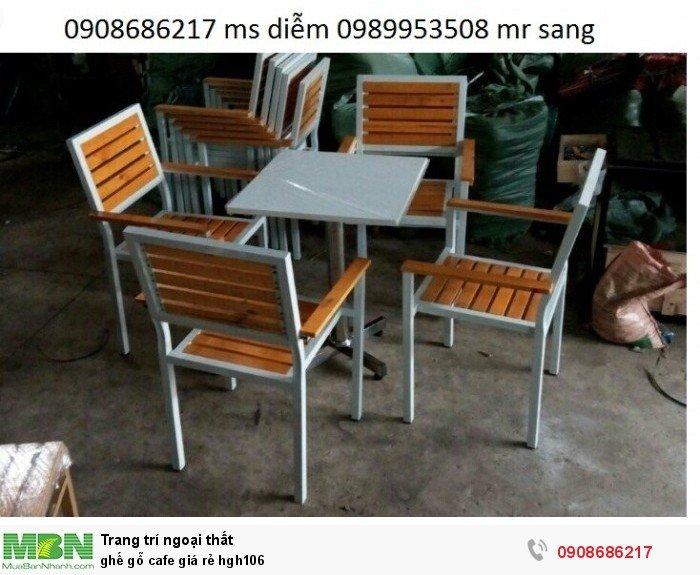 Ghế gỗ cafe giá rẻ hgh1063