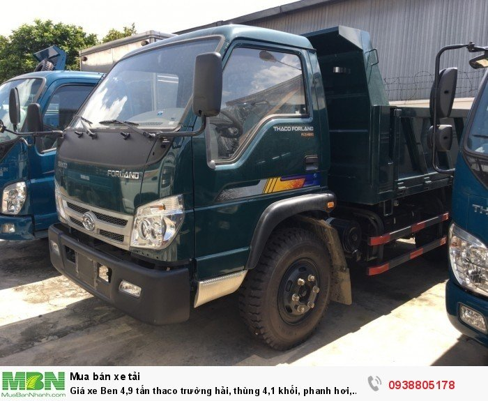 Giá xe Ben 4,9 tấn thaco Trường Hải, thùng 4,1 khối, phanh hơi, giá xe tải ben Long An, Nhà Bè, Củ Chi. 2