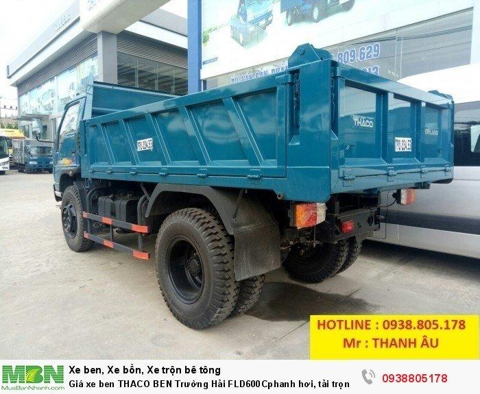 Giá xe ben THACO BEN Trường Hải FLD600Cphanh hơi, tải trọng 6tấn thùng 4,9 khối. Trả 150tr nhận xe. 1