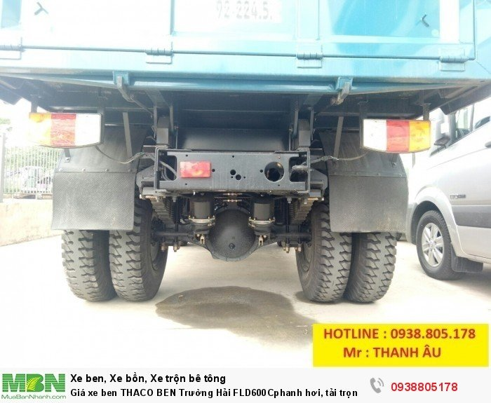 Giá xe ben THACO BEN Trường Hải FLD600Cphanh hơi, tải trọng 6tấn thùng 4,9 khối. Trả 150tr nhận xe. 2