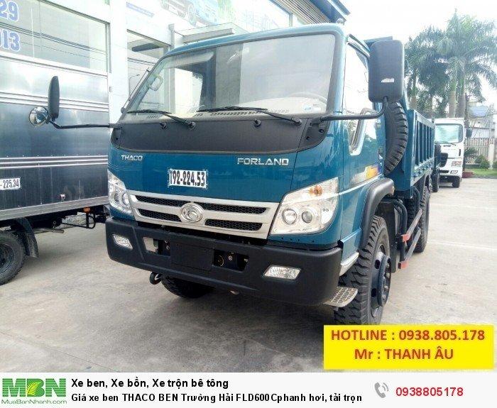Giá xe ben THACO BEN Trường Hải FLD600Cphanh hơi, tải trọng 6tấn thùng 4,9 khối. Trả 150tr nhận xe. 3