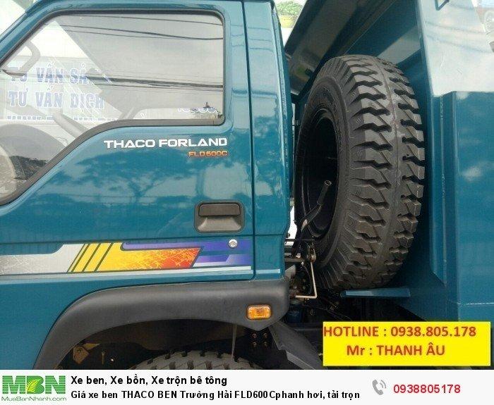Giá xe ben THACO BEN Trường Hải FLD600Cphanh hơi, tải trọng 6tấn thùng 4,9 khối. Trả 150tr nhận xe. 4