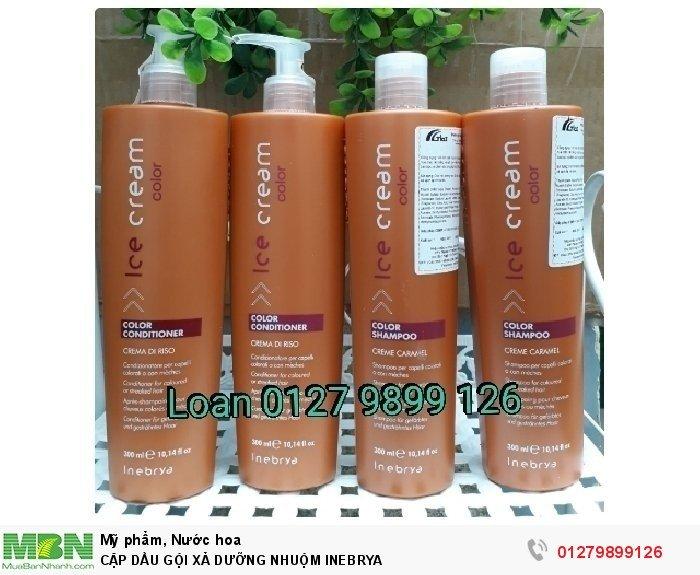 Cặp dầu gội xã dưỡng nhuộm INEBRYA1