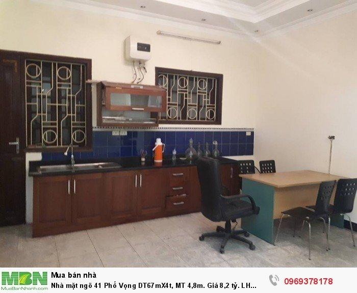 Nhà mặt ngõ 41 Phố Vọng DT67mX4t, MT 4,8m